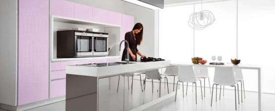 Purple and Pink Kitchen